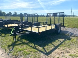 Utility Trailer Single Axle  Utility Trailer Single Axle. Single 3500# single axle utility trailer. This trailer features a mounted spare tire and a spring assisted tailgate.